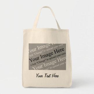 Imagen y plantilla de encargo del texto para los t bolsa tela para la compra
