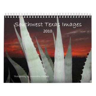 Imágenes 2010 de Tejas del sudoeste Calendario De Pared