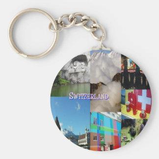 Imágenes coloridas de Suiza de Celeste Sheffey Llavero Redondo Tipo Pin