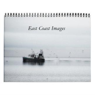 Imágenes costeras calendario de pared