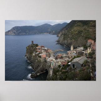 Imágenes de Cinque Terre: Opinión de Corniglia: Po Posters