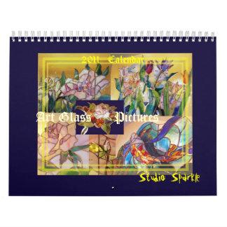 Imágenes de cristal del arte del vitral 2011 calendario de pared