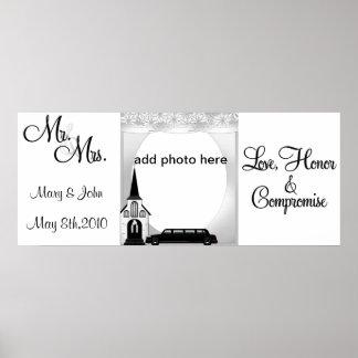 Imágenes de encargo del boda posters