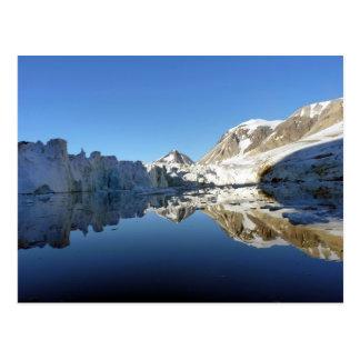 Imágenes de espejo en Svalbard Tarjeta Postal