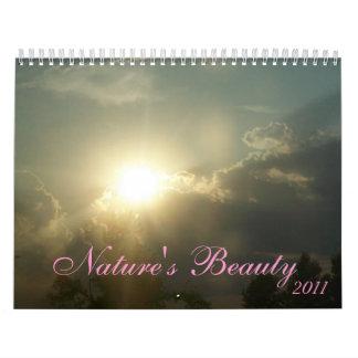 Imágenes de la belleza de la naturaleza hechas por calendario