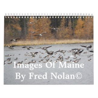 Imágenes de la cartera de Maine Calendario