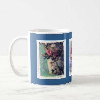 imágenes de la flor taza básica blanca