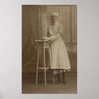Imágenes de la postal de la vintage mujer impresiones
