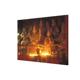 Imágenes de lamas en el monasterio de Sara Lasa Lienzo Envuelto Para Galerias