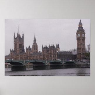 Imágenes de Londres: Big Ben y Westminster: Poster