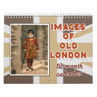 Imágenes de Londres viejo calendario de 12 meses