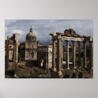 Imágenes de Roma: Opinión imperial del foro: Poste Posters