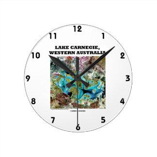 Imágenes de satélite de Carnegie Australia occiden Relojes De Pared