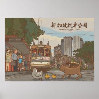 Imágenes de Singapur Tramways Company el Singapu Impresiones