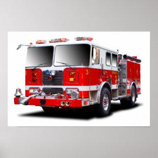 Imágenes del coche de bomberos para el poster
