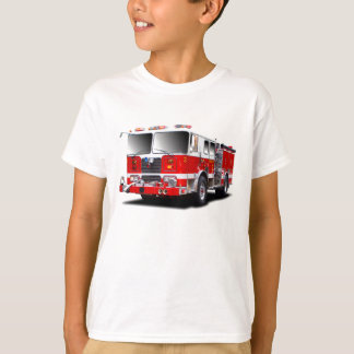 Imágenes del coche de bomberos para la camiseta de