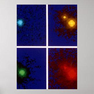 Imágenes del color del cuasar 1208+101Split por Póster