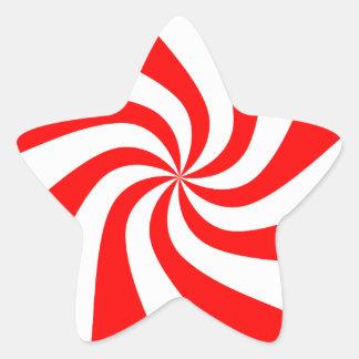 Imágenes del navidad del caramelo pegatina en forma de estrella