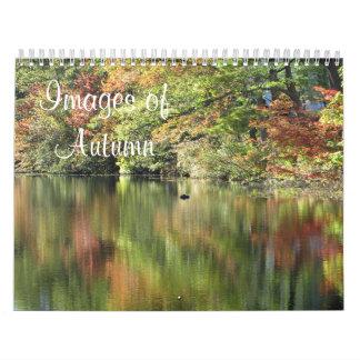 Imágenes del otoño calendario de pared