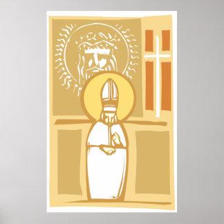 Imágenes del papa y del cristiano poster
