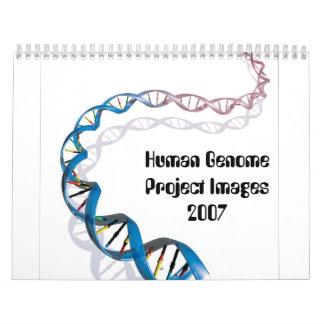 Imágenes del proyecto del genoma humano calendarios de pared