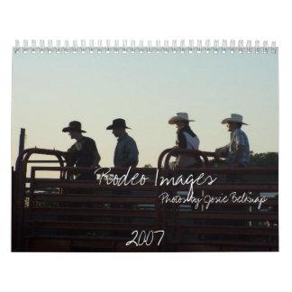 Imágenes del rodeo, 2007, fotos por… calendario de pared