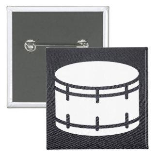 Imágenes del tambor gráficas pin cuadrada 5 cm