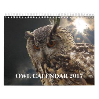 Imágenes e imágenes hermosas 2017 del búho calendarios