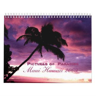 Imágenes en paraíso calendarios de pared