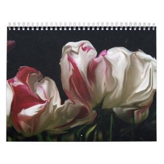 imágenes infrecuentes de la flor calendario de pared