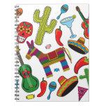 Imágenes mexicanas del fiesta de la fiesta libreta espiral
