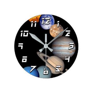 Imágenes planetarias del montaje de la Sistema Reloj Redondo Mediano
