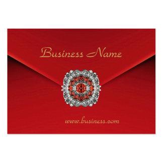 Imágenes rojas del diamante del terciopelo del neg tarjetas de visita