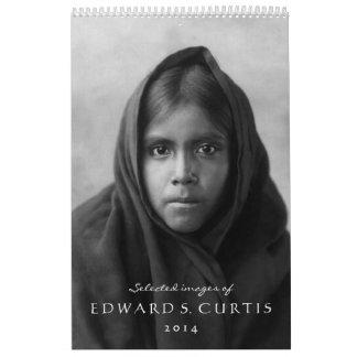 Imágenes seleccionadas de Edward S. Curtis 2014 Calendario De Pared