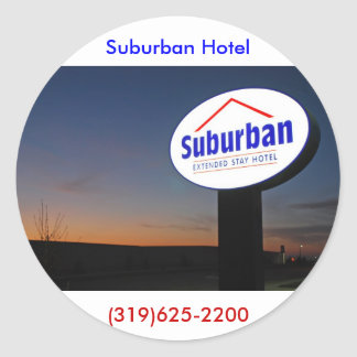 imágenes suburbanas 003 pegatina redonda