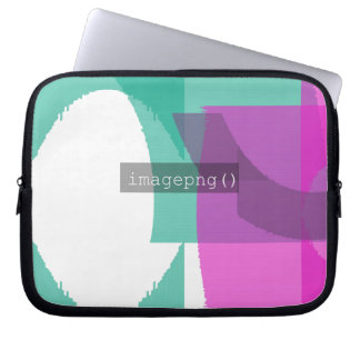 imagepng() Code Design on Laptop Sleeve