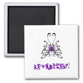 images, BE YOURSELF! 2 Inch Square Magnet