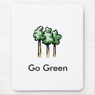 images, Go Green Mouse Pad