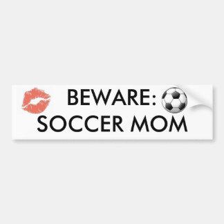 images kiss 20mark_medium BEWARE SOCCER MOM Bumper Stickers