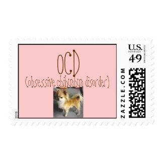 images, OCD, (obsessive chihuahua disorder) Postage Stamp