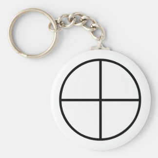 Images of number 4: the traditional cross keychain