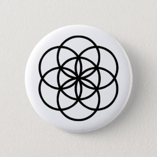 Images of number 7: the Seed of Life Pinback Button