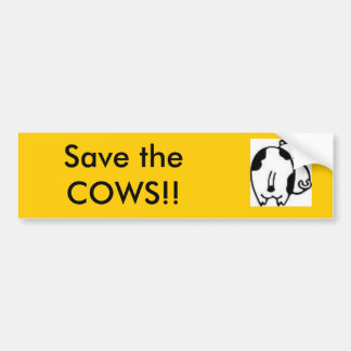 images, Save the COWS!! Bumper Sticker