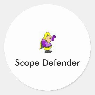 images, Scope Defender Classic Round Sticker