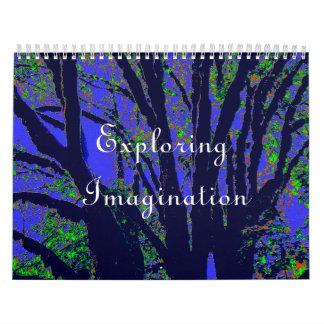 Imaginación de exploración calendarios de pared
