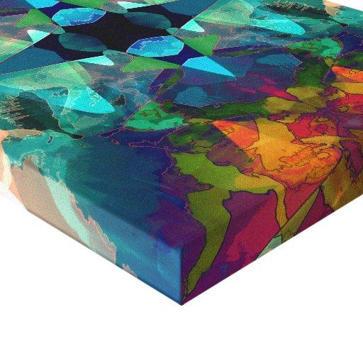 Imaginación de la mancha de tinta impresion de lienzo