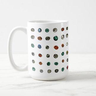 Imaginary Agates on White Coffee Mug