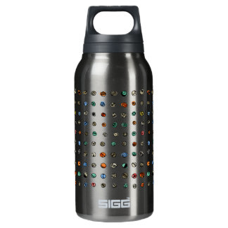 Imaginary Agates on White Insulated Water Bottle