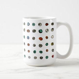 Imaginary Agates on White Mugs