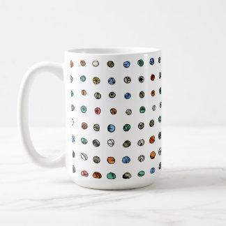 Imaginary Agates on White Mug